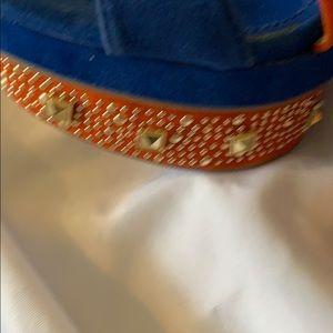 Alba Shoes - Platform heel blue & orange